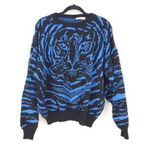 Vintage Santana Tiger Print Pullover Sweater